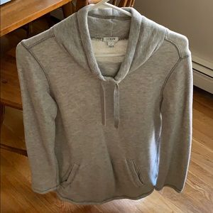 lightly worn, grey small JCrew sweatshirt